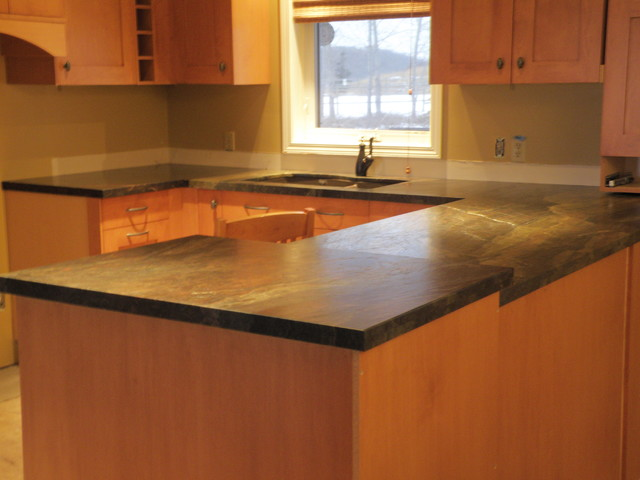 Kitchen Countertops - Cleopatra Granite - Leather Finish
