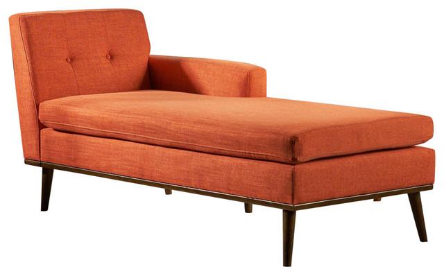 Astounding Gdf Studio Sophia Mid Century Modern Fabric Chaise Lounge Muted Orange Spiritservingveterans Wood Chair Design Ideas Spiritservingveteransorg