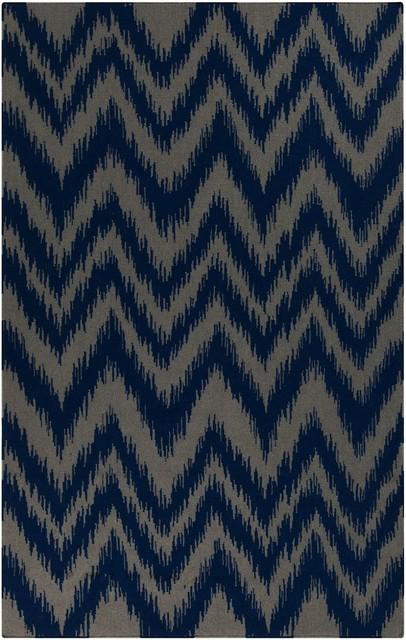 Frontier Area Rug, Rectangle, Dark Blue, Dove Gray, 2'x3'