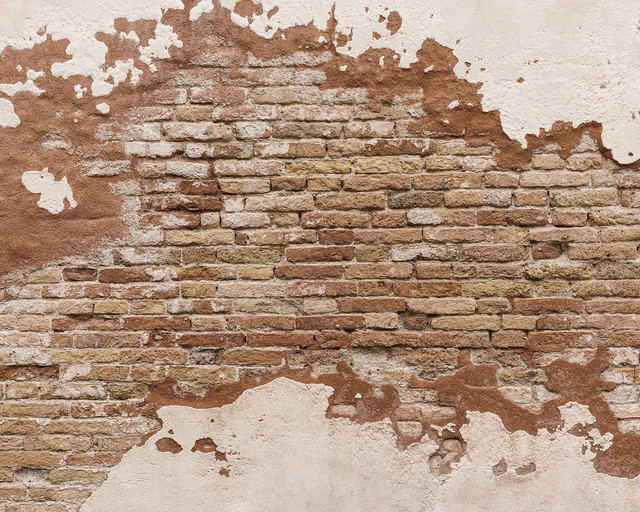 Distressed Brick Wall Mural Rustic Wall Decals