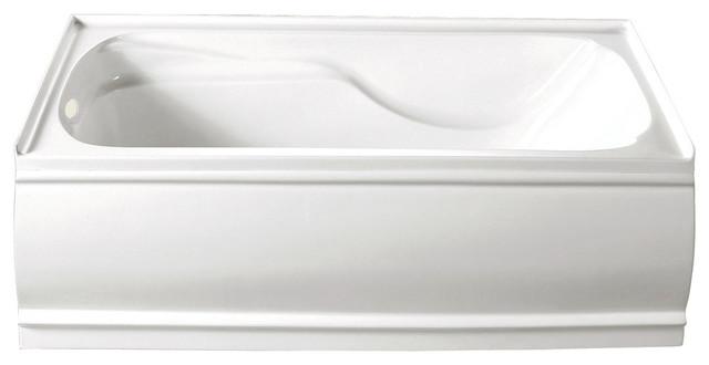 "Kingston Brass Aqua Eden 60"" Contemporary Alcove Acrylic Bathtub, Left Hand."