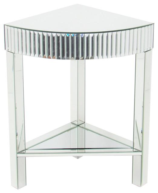 Wonderful Roman Beveled Mirror Corner Table