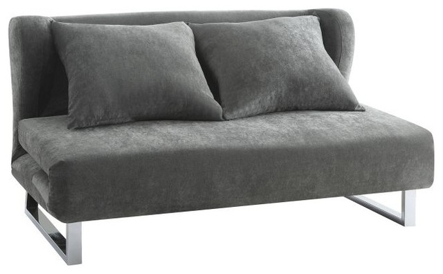 Coaster Gray Velvet Sofa Bed
