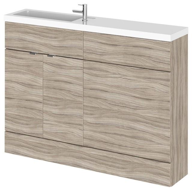 Combinations Compact Bathroom Vanity Unit, Driftwood, 120 cm