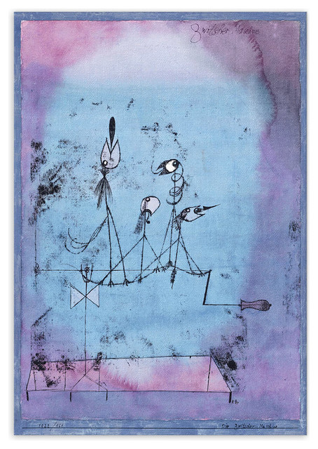 Twittering Machine >> Paul Klee Twittering Machine 1922 Canvas Print Eclectic Prints