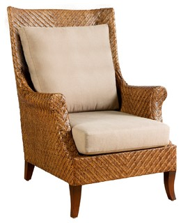 Marvelous Addison Wing Chair Chestnut Tropical Armchairs And Accent Chairs By Kenian Pabps2019 Chair Design Images Pabps2019Com