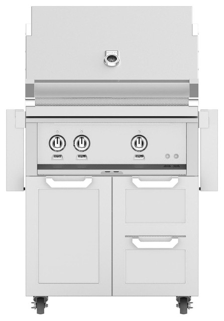 "Freestanding Grill With Door/drawer Combo, Steeletto, Propane, 30""."