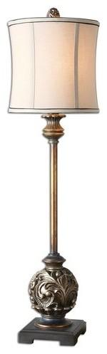 Uttermost Shahla Bronze One Light Golden Bronze Table Lamp.
