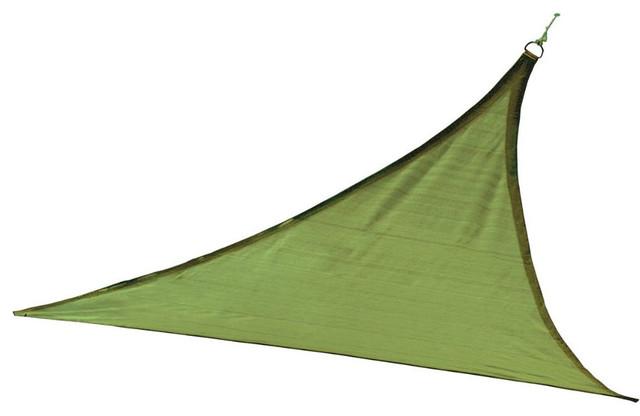 Shelterlogic Outdoor Sun Shade Sail, Triangle, Lime Green.