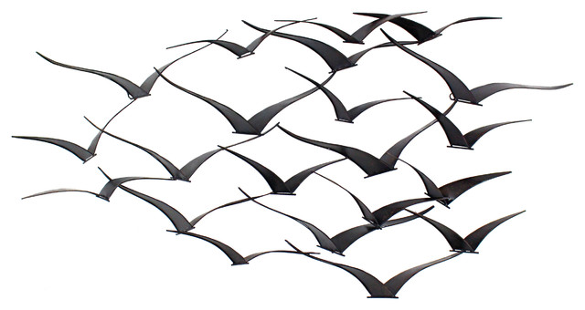 Merveilleux Darla Metal Birds Wall Decor Contemporary Metal Wall Art