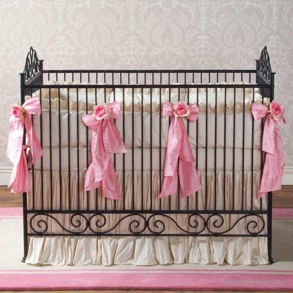 Casablanca Premiere Heirloom Iron Baby Crib Slate