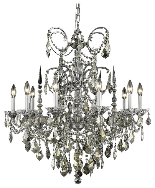 Dining Room Chandeliers Traditional: Dining Room Chandelier Pewter