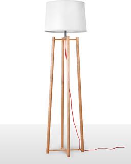 tall quadripod floor lamp for living room contemporary floor lamps. Black Bedroom Furniture Sets. Home Design Ideas