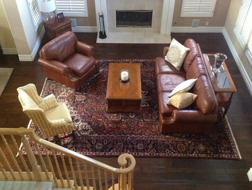 Need help working around an antique oriental persian rug for Oriental sofa designs