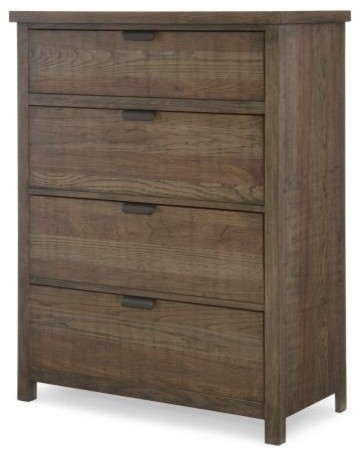 Fulton County 4-Drawer Chest, Tawny Brown.