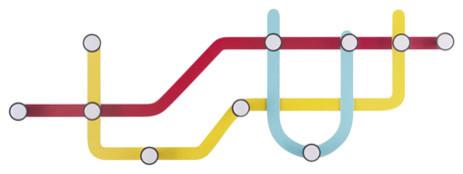 Umbra Subway, Multi-Colored Hook, Multi-Colored.