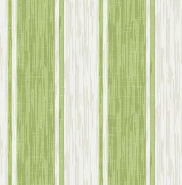 Ryoan Green Stripes Wallpaper Swatch