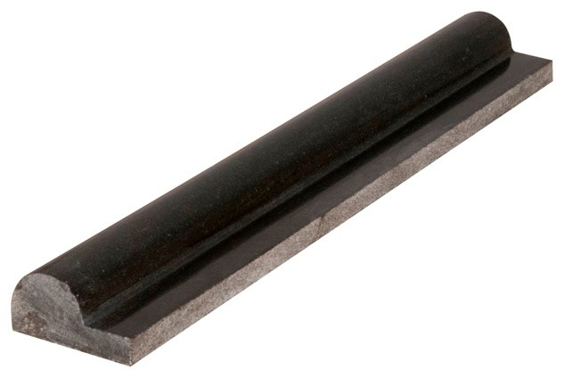 Tilesbay Polished Black Granite Rail Molding Granite