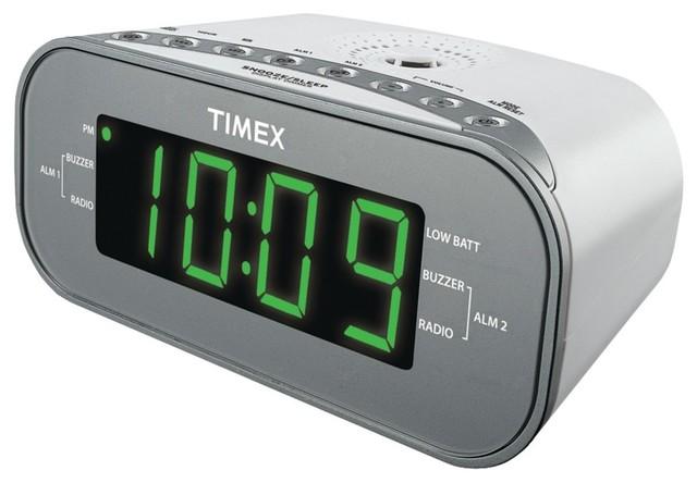 am fm dual alarm clock radio with digital tuning gunmetal gray alarm clocks by ktm ventures. Black Bedroom Furniture Sets. Home Design Ideas