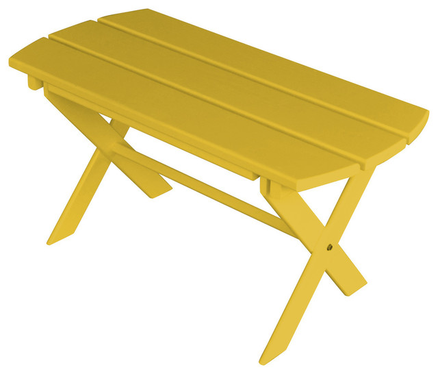 Painted Pine Outdoor Folding Coffee Table