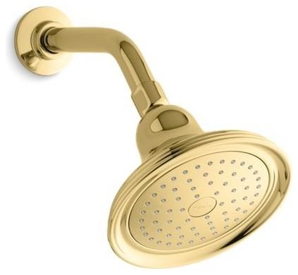 Kohler Devonshire 2.5 GPM 1-Function Showerhead, Vibrant Polished Brass