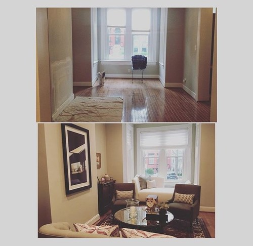 Transitional #DC Rowhouse Living Room