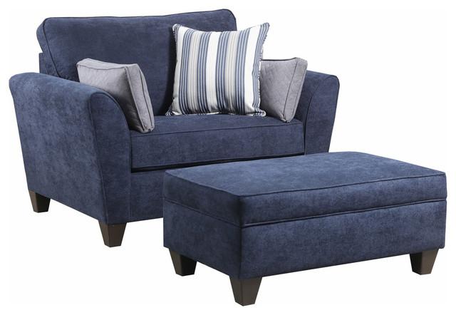 Surprising Simmons Upholstery Prelude Navy Storage Ottoman Creativecarmelina Interior Chair Design Creativecarmelinacom