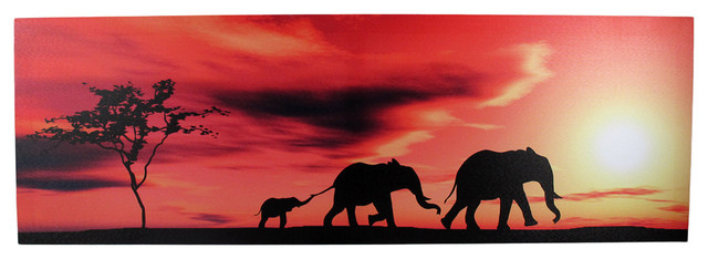 Elephant Wall Art Canvas Prints Elephant Panoramic
