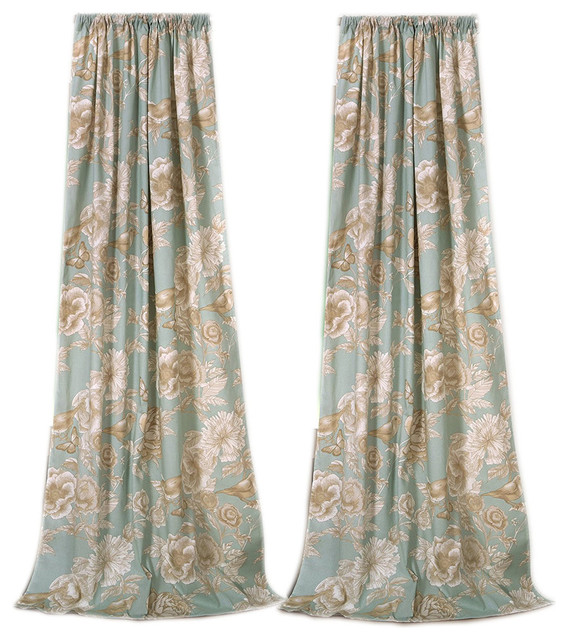 Greenland Naomi Panel Window Curtains, Set Of 2.