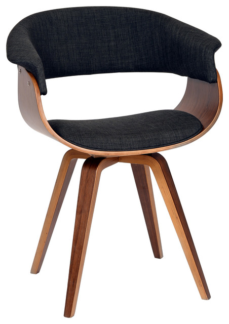 Summer Modern Chair Charcoal Fabric And Walnut Wood