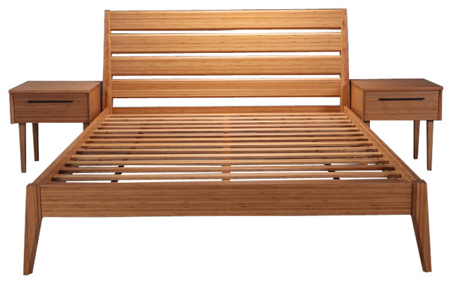 Cayenne Bamboo Bed, Caramel, Eastern King.