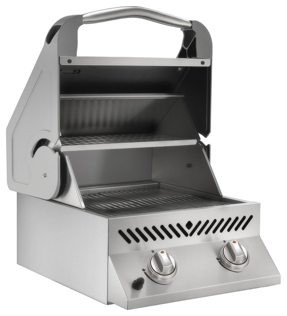 Napoleon Built In Flat Top Gas Grill Head With Two Ceramic Infrared Burners Transitional Outdoor Grills By