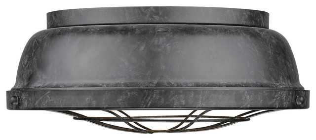 Bartlett Flush Mount Light Black Patina Farmhouse Ceiling