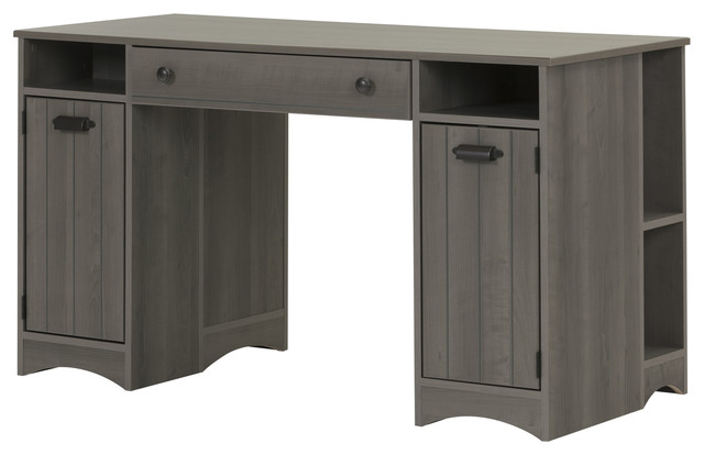 South Shore Artwork Craft Table With Storage, Gray Maple.