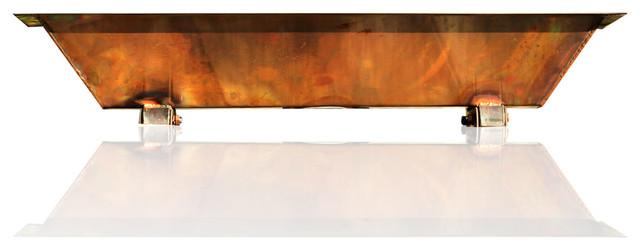 30 Copper Industrial Vintage Style Trough Sink Wall Mount Vessel Bath Sink Craftsman