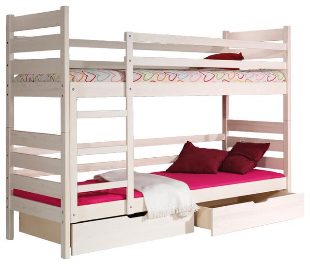 Darek Bunk Bed with 2 mattresses 74.8 x 31.5 inch