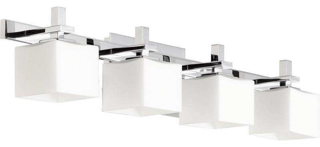 Quorum Lighting Square Bathroom Light Transitional - Square bathroom vanity lights