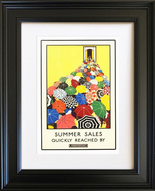 "London Underground ""Sales"" Framed Art Print, 26 x 31 cm"