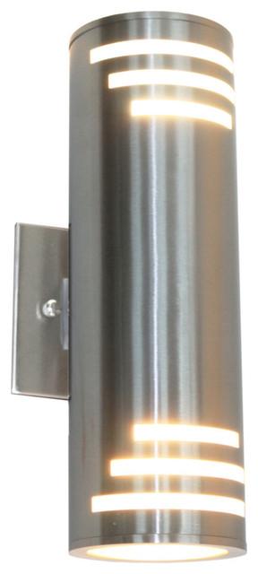 Nuevo 2-Light Stainless Steel Outdoor Light.