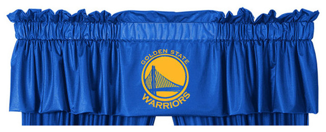 Nba Golden State Warriors Valance Basketball Window Accent.