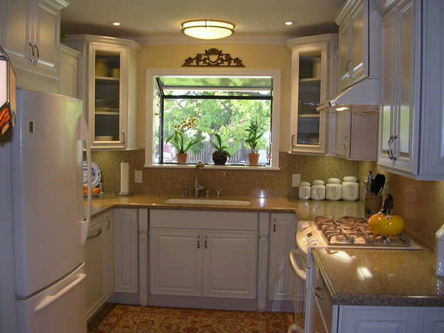 Small U Shaped Kitchen Awesome Very Small Ushaped Kitchen In West San Jose Ca  Traditional . Decorating Inspiration