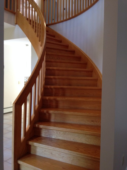 Or If Staining Darker Is Too Hard? How To Keep Existing Stairs Back To Its  Glory And Get The Yellow And Black Out Of The Wood?