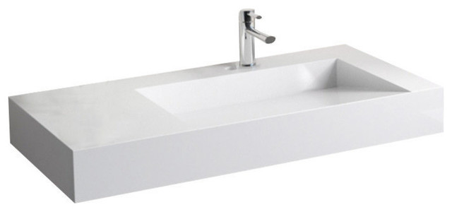 Badeloft Stone Resin Wall-mounted Sink, Gloss