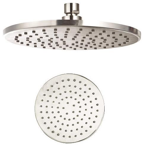 Aqua Rain Shower Head 8 Round Brushed Nickel Showerheads And Body Spr