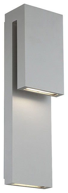 Modern Forms Double Down Led Outdoor Wall Sconce In Graphite