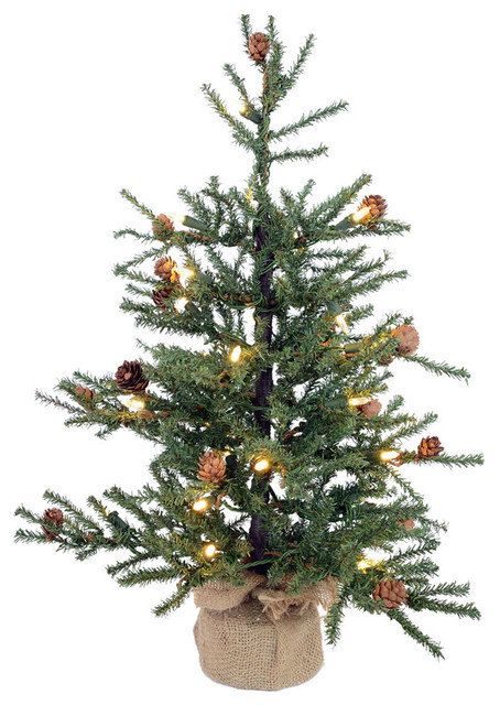 Vickerman 3 Camdon Fir Wall Tree with 50 Warm White LED Lights