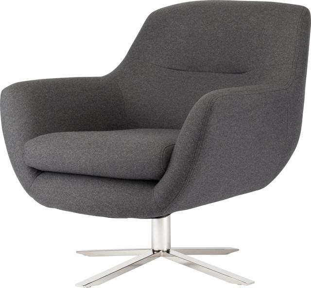 Greta Occasional Chair Dark Gray Silver