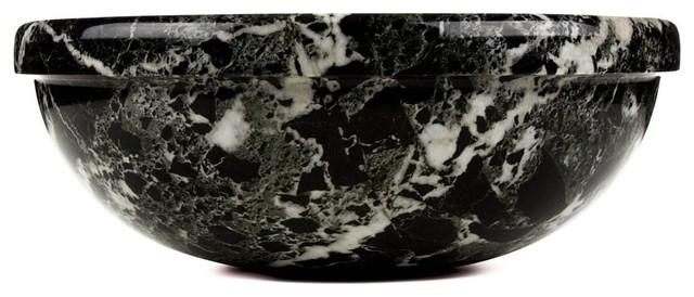 Black Zebra Marble, Classic Vessel Sink, Sink D.