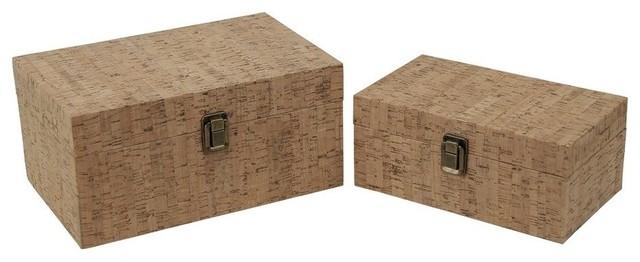 Cheung's 2-Piece Set Cork Boxes