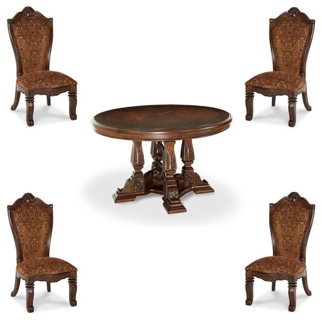 Windsor Court Round Dining Table Set, 5 Piece Set